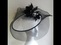 Suzie Mahony Designs Black and White Events Headpiece